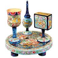 Oriental Wooden Havdalah Set
