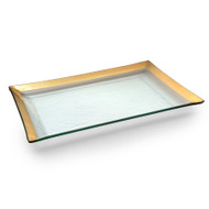 Annie Glass Tray- Gold