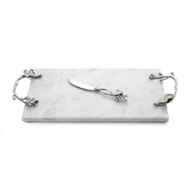 Michael Aram White Orchid Challah Board- White