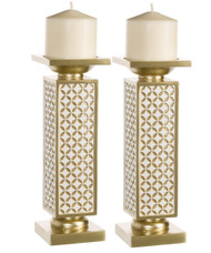 Diamond Lattice Schonwerk Candlesticks (Set of 2)