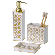 Diamond Lattice Bathroom Set