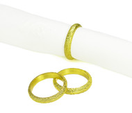Spaghetti Gold Napkin Rings (Set of 4) (SPN805)