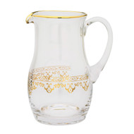 Glass Pitcher with 24K Gold Artwork