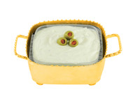 Beaded Gold Square Dip Container (small)