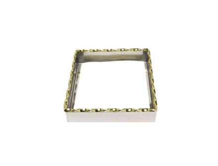 Two Tone Twisted Square Napkin Holder