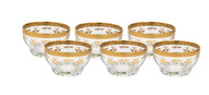 Glass Dessert Bowls w/ 24K Gold Artwork (Set of 6)