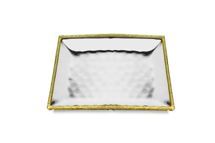 Spaghetti Gold Square Hammered Tray