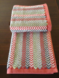 Chevron Rust Oversized Hand Towel