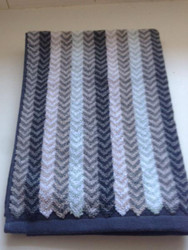 Chevron Blue Oversized Hand Towel