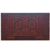 Kaftor V'Perach Two-Tone Brown Door Plaque- Door Design