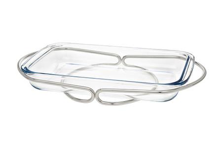 Godinger Rectangular Baker- Silver (84353)