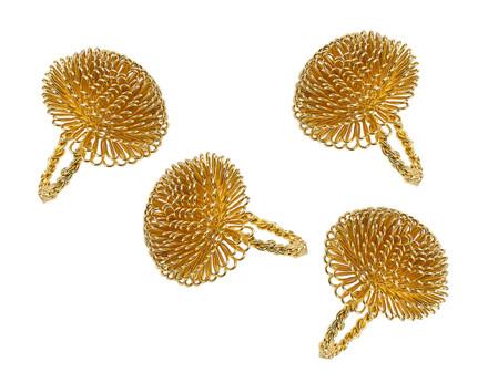 Godinger Gold Aster Napkin Rings (Set of 4) (55109)
