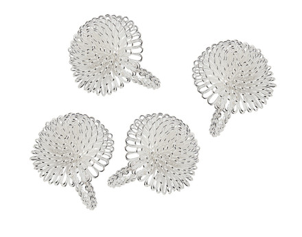 Godinger Silver Aster Napkin Rings (Set of 4) (55108)