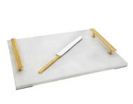 Godinger Herringbone Marble Board w/ Knife (70250)