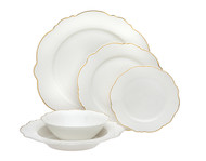 Godinger Bristol Gold Scallop Bone China (Service for 1) (62111)
