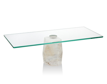 Godinger Agate Cake Stand w/ Glass Plate (70950 )
