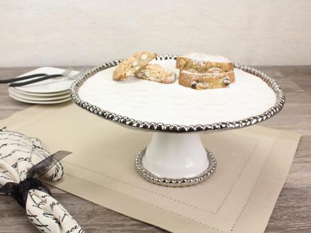 Pampa Bay Salerno Round Cake Stand (CER-1196-W)
