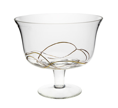 Swirl Gold Footed Bowl (CSBG385)