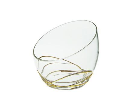 Swirl Gold Glass Egg Shaped Bowl (CSBG391)