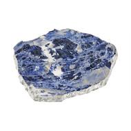 ANNA Kiva Platter/ Challah Board - Indigo & Silver (Large) (KM-027)