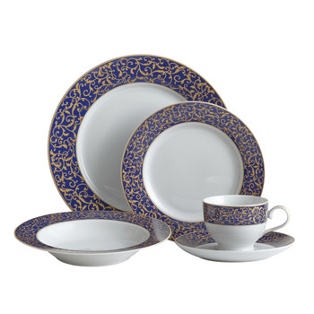 Mikasa Parchment Cobalt Dinnerware Set (Service for 4) (5146633)