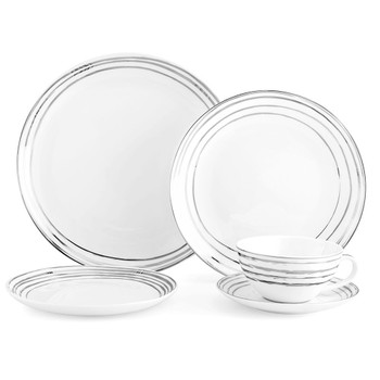 Mikasa Swirl Platinum Dinnerware Set (Service for 4) (K205151230)