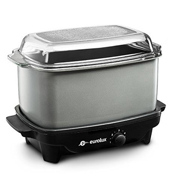 Eurolux Crock Pot/Slow Cooker and Griddle 5 Qt. (EL5300G)