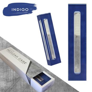 Lucite Mezuzah Case - Indigo (LL-LMC-I)