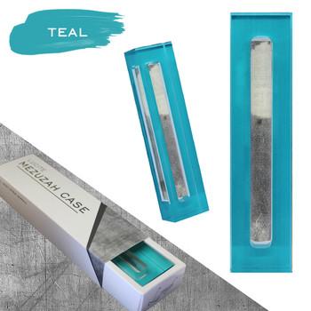 Lucite Mezuzah Case - Teal (LL-LMC-T)