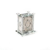 Alef to Tav Crystal & Silver Plate Tzedakah Box w/ Crushed Glass (TZ-X2276R)