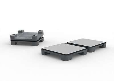 HotMat 2 Dish Connect Warming Plate- Gray