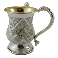 Karshi Silverplate Washing Cup - Diamond (WC-1255)
