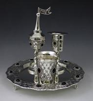 Silver Plated Havdalah Set - Stones (617)