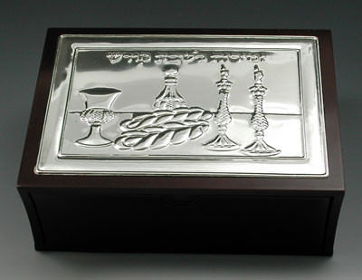 Wood & Silver Plated Bencher Holder - Top Opening (1026)