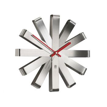 Ribbon Wall Clock - Steel (118070-590)