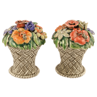 Basket of Flowers Salt & Pepper Shakers