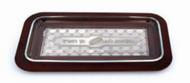 Wood & Silver Challah Tray