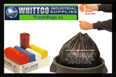 DT44GALK Draw-Tuff Institutional Draw Tape Can Liners Inteplast Bags Black