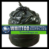 S386022K HDPE lnstitutional Trash Can Liners Inteplast Bags Black