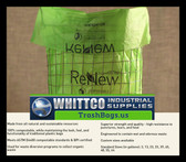 13 Gallon Compostable Trash bags / Liners .8 MIL 200 Bags per case BPI ASTM D6400