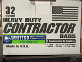 Contractor bags 3 Mil Heavy Duty 32 count #HK42WC032B-WHITTCO