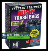 Husky HK33WC060B Trash Bag Black, 33 Gallon