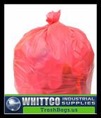 PC24MRR  RED Trash Bags 24x24 0.45 Mil