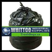 SL3036HVK LLDPE Trash Bags Inteplast Can Liners Black