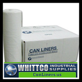 SL3858XHW-2 LLDPE Trash Bags Inteplast Can Liners White