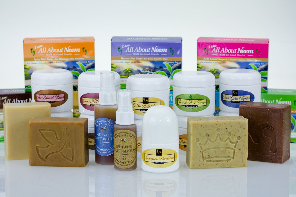 All About Neem Health and Beauty products for skin, hair, cleansing and more.