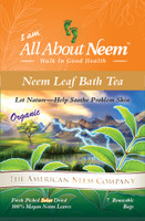 Neem Tub Tea Bags (7 Reusable Bags) & 7 FREE Neem Soap Samples - Relax & Enjoy!