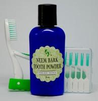 Neem Bark Tooth Powder Travel Set