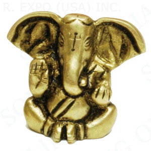 Brass Ganesha Big Ears 1.5""