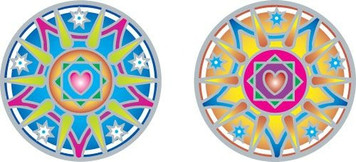love light mandala Sunlight decal
